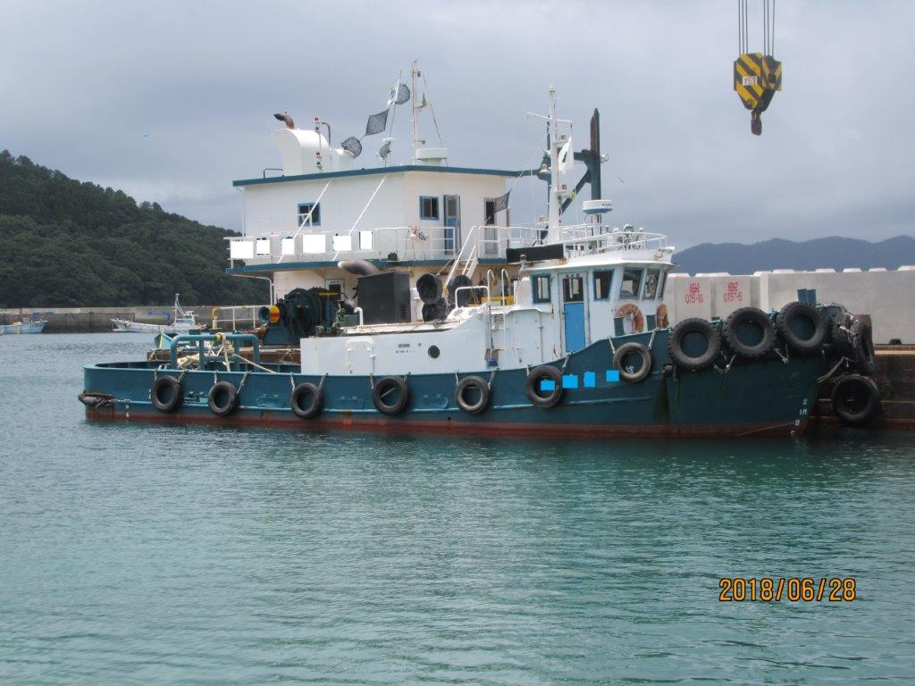 400TONS CRANE&PUSHER BARGE FOR SALE/1988YEAR BUILT photo image