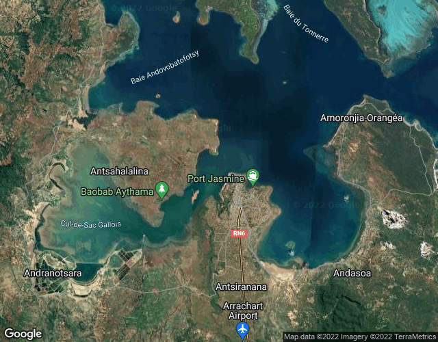 Port of Antisranana port photo map in Madagascar, Africa